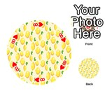 Pattern Template Lemons Yellow Playing Cards 54 (Round)  Front - Heart8