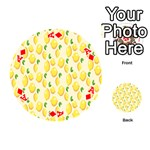 Pattern Template Lemons Yellow Playing Cards 54 (Round)  Front - DiamondA