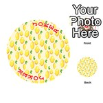 Pattern Template Lemons Yellow Playing Cards 54 (Round)  Front - Joker2