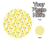 Pattern Template Lemons Yellow Playing Cards 54 (Round)  Back