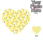 Pattern Template Lemons Yellow Playing Cards 54 (Heart)  Back