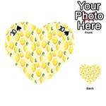 Pattern Template Lemons Yellow Playing Cards 54 (Heart)  Front - Spade10