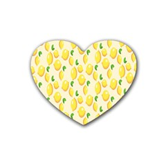 Pattern Template Lemons Yellow Heart Coaster (4 pack)
