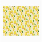 Pattern Template Lemons Yellow Small Glasses Cloth (2-Side) Back