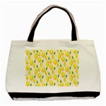 Pattern Template Lemons Yellow Basic Tote Bag (Two Sides) Back