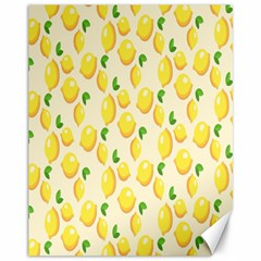 Pattern Template Lemons Yellow Canvas 11  x 14
