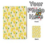 Pattern Template Lemons Yellow Multi-purpose Cards (Rectangle)  Front 6