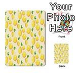 Pattern Template Lemons Yellow Multi-purpose Cards (Rectangle)  Back 48