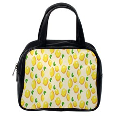 Pattern Template Lemons Yellow Classic Handbags (One Side)