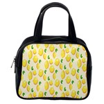 Pattern Template Lemons Yellow Classic Handbags (One Side) Front