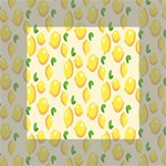 Pattern Template Lemons Yellow Mini Canvas 4  x 4  4  x 4  x 0.875  Stretched Canvas