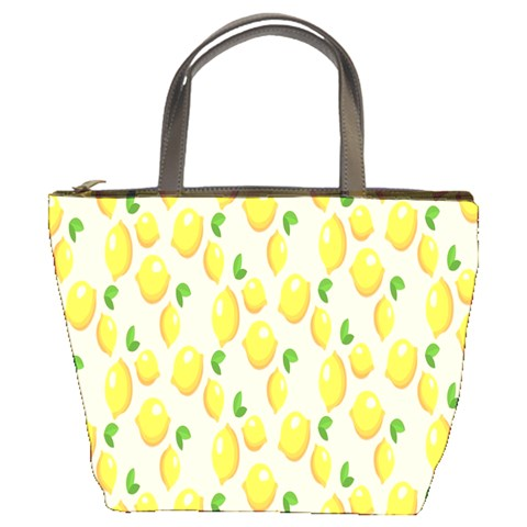 Pattern Template Lemons Yellow Bucket Bags
