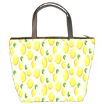 Pattern Template Lemons Yellow Bucket Bags Back