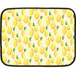 Pattern Template Lemons Yellow Fleece Blanket (Mini) 35 x27 Blanket