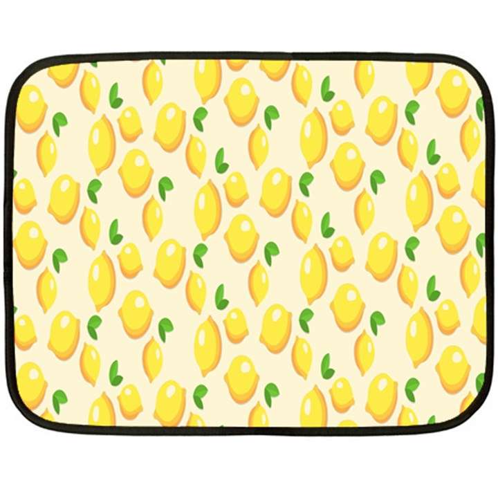 Pattern Template Lemons Yellow Fleece Blanket (Mini)
