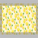 Pattern Template Lemons Yellow Canvas 14  x 11  14  x 11  x 0.875  Stretched Canvas