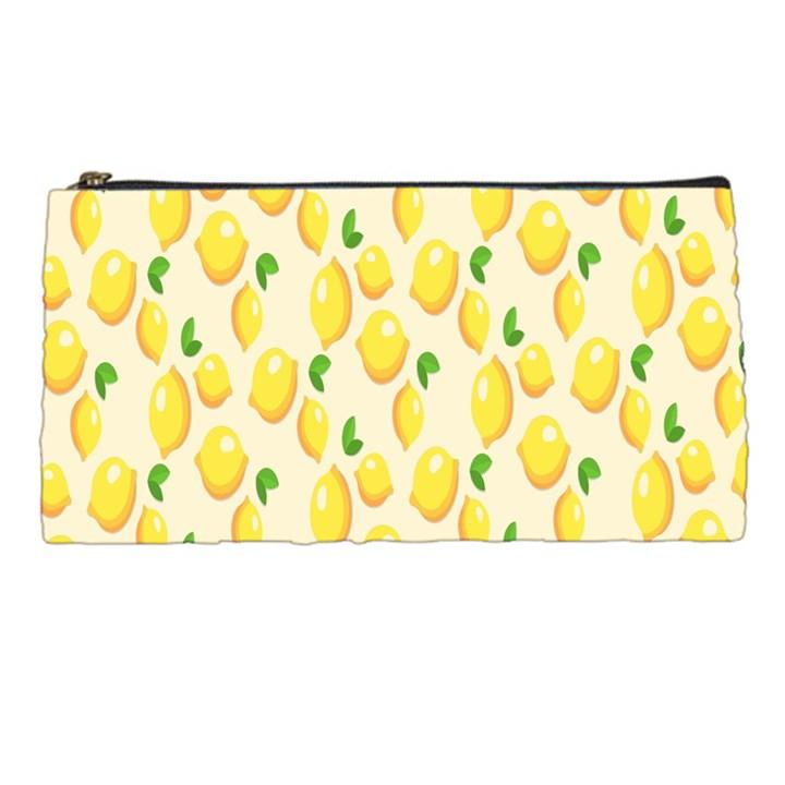 Pattern Template Lemons Yellow Pencil Cases