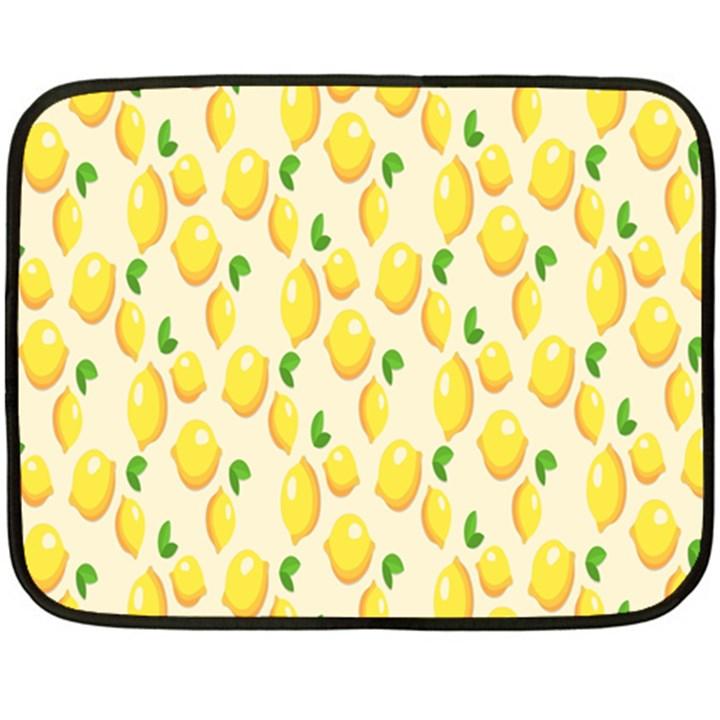Pattern Template Lemons Yellow Double Sided Fleece Blanket (Mini)
