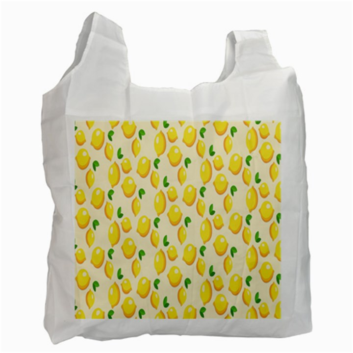 Pattern Template Lemons Yellow Recycle Bag (One Side)