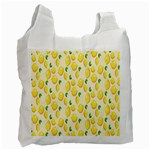 Pattern Template Lemons Yellow Recycle Bag (Two Side)  Front