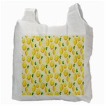 Pattern Template Lemons Yellow Recycle Bag (Two Side)  Back