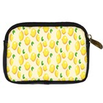 Pattern Template Lemons Yellow Digital Camera Cases Back