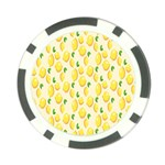 Pattern Template Lemons Yellow Poker Chip Card Guards (10 pack)  Front