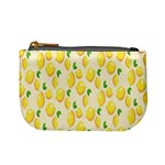 Pattern Template Lemons Yellow Mini Coin Purses Front
