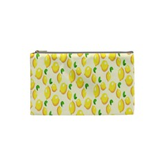 Pattern Template Lemons Yellow Cosmetic Bag (Small)