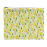 Pattern Template Lemons Yellow Cosmetic Bag (XL) Front