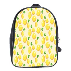 Pattern Template Lemons Yellow School Bags(Large)