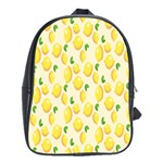 Pattern Template Lemons Yellow School Bags(Large)  Front