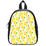 Pattern Template Lemons Yellow School Bags (Small)  Front
