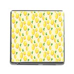 Pattern Template Lemons Yellow Memory Card Reader (Square) Front