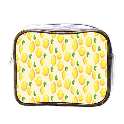 Pattern Template Lemons Yellow Mini Toiletries Bags