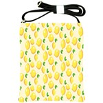 Pattern Template Lemons Yellow Shoulder Sling Bags Front