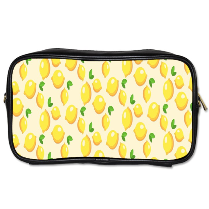 Pattern Template Lemons Yellow Toiletries Bags
