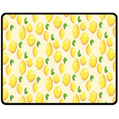 Pattern Template Lemons Yellow Fleece Blanket (Medium)