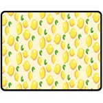 Pattern Template Lemons Yellow Fleece Blanket (Medium)  60 x50 Blanket Front