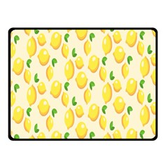 Pattern Template Lemons Yellow Fleece Blanket (Small)