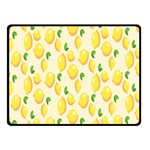 Pattern Template Lemons Yellow Fleece Blanket (Small) 50 x40 Blanket Front
