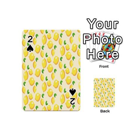 Pattern Template Lemons Yellow Playing Cards 54 (Mini)