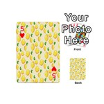 Pattern Template Lemons Yellow Playing Cards 54 (Mini)  Front - Heart5