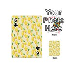 Pattern Template Lemons Yellow Playing Cards 54 (Mini)  Front - Club6