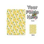 Pattern Template Lemons Yellow Playing Cards 54 (Mini)  Back