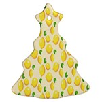 Pattern Template Lemons Yellow Christmas Tree Ornament (2 Sides) Front