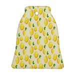 Pattern Template Lemons Yellow Bell Ornament (2 Sides) Back