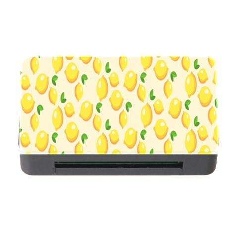 Pattern Template Lemons Yellow Memory Card Reader with CF