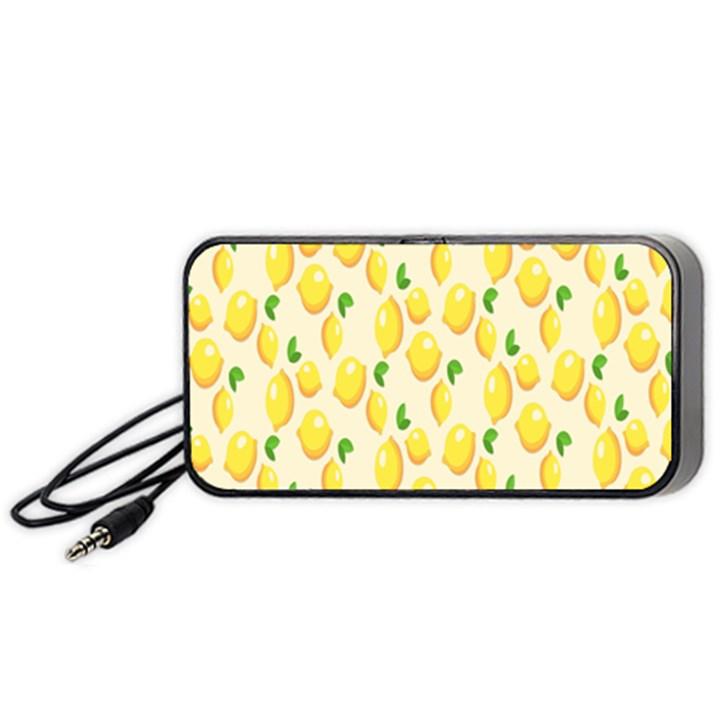 Pattern Template Lemons Yellow Portable Speaker (Black)