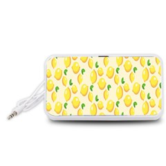 Pattern Template Lemons Yellow Portable Speaker (White)